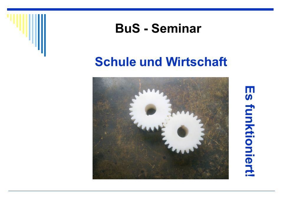 BuS - Seminar Schule und Wirtschaft Es funktioniert!