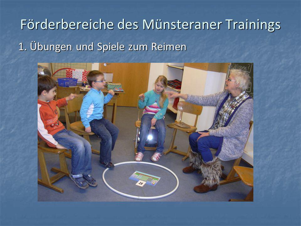 Förderbereiche des Münsteraner Trainings 1. Übungen und Spiele zum Reimen