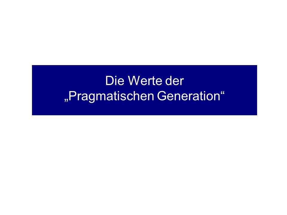 Die Werte der Pragmatischen Generation