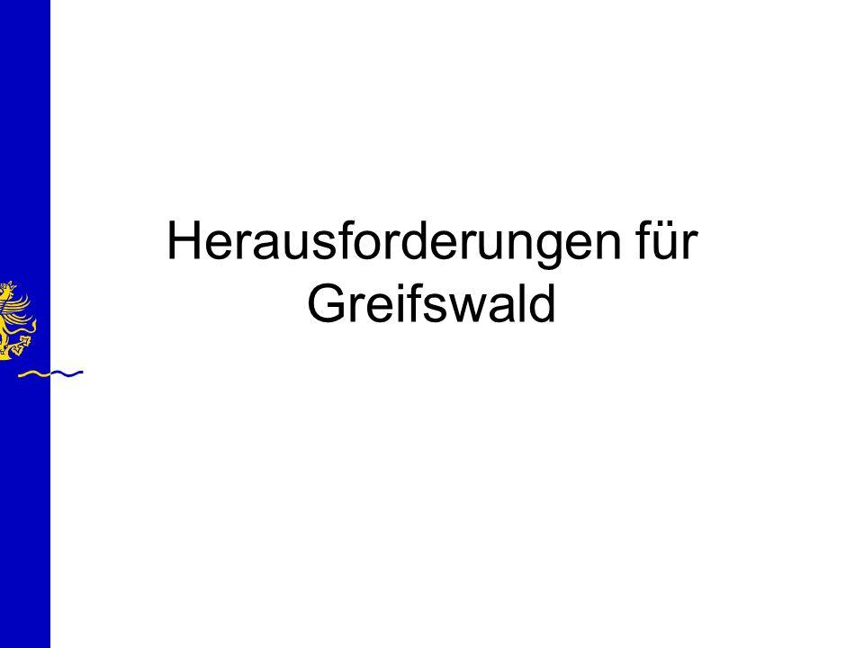 Herausforderungen für Greifswald