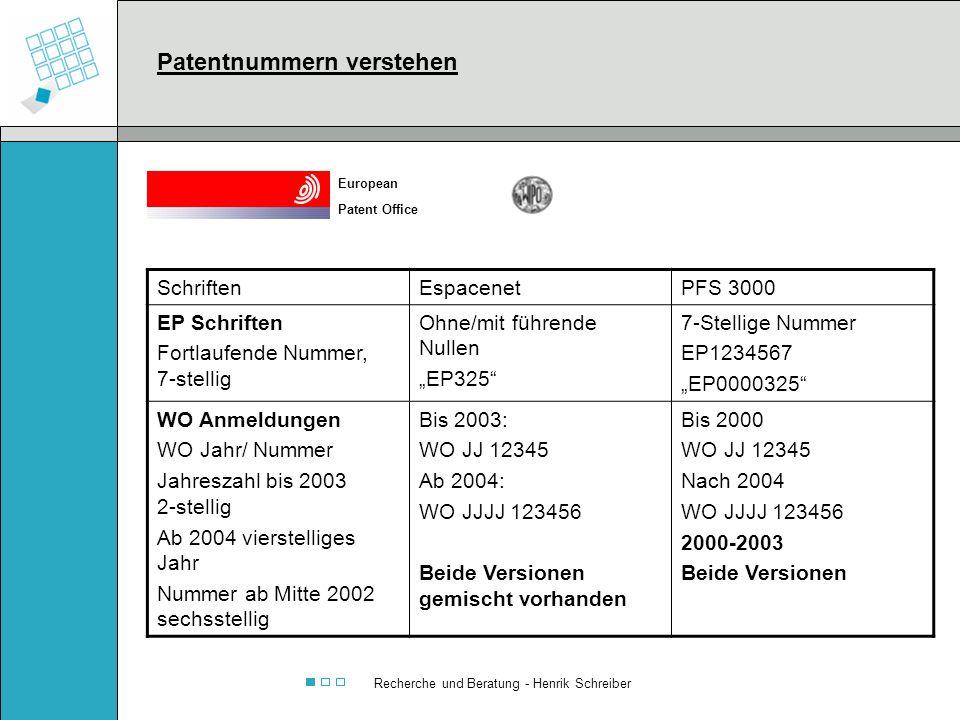 Recherche und Beratung - Henrik Schreiber SchriftenEspacenetPFS 3000 EP Schriften Fortlaufende Nummer, 7-stellig Ohne/mit führende Nullen EP325 7-Stel