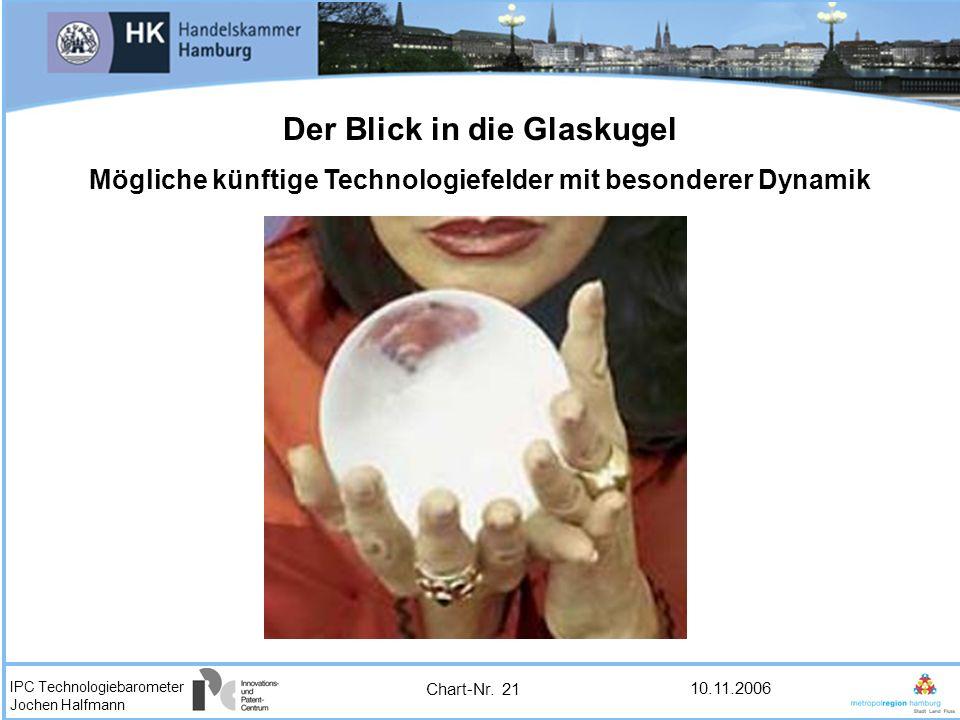 IPC Technologiebarometer Jochen Halfmann 10.11.2006 Der Blick in die Glaskugel Mögliche künftige Technologiefelder mit besonderer Dynamik Chart-Nr. 21