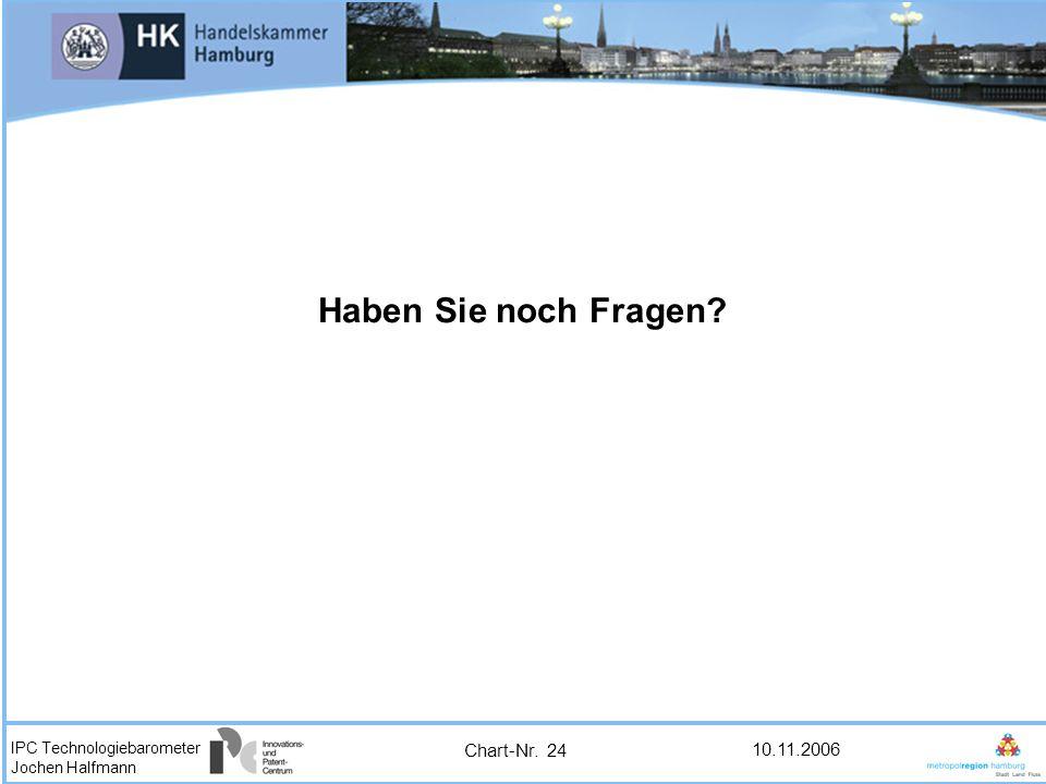 IPC Technologiebarometer Jochen Halfmann 10.11.2006 Haben Sie noch Fragen? Chart-Nr. 24