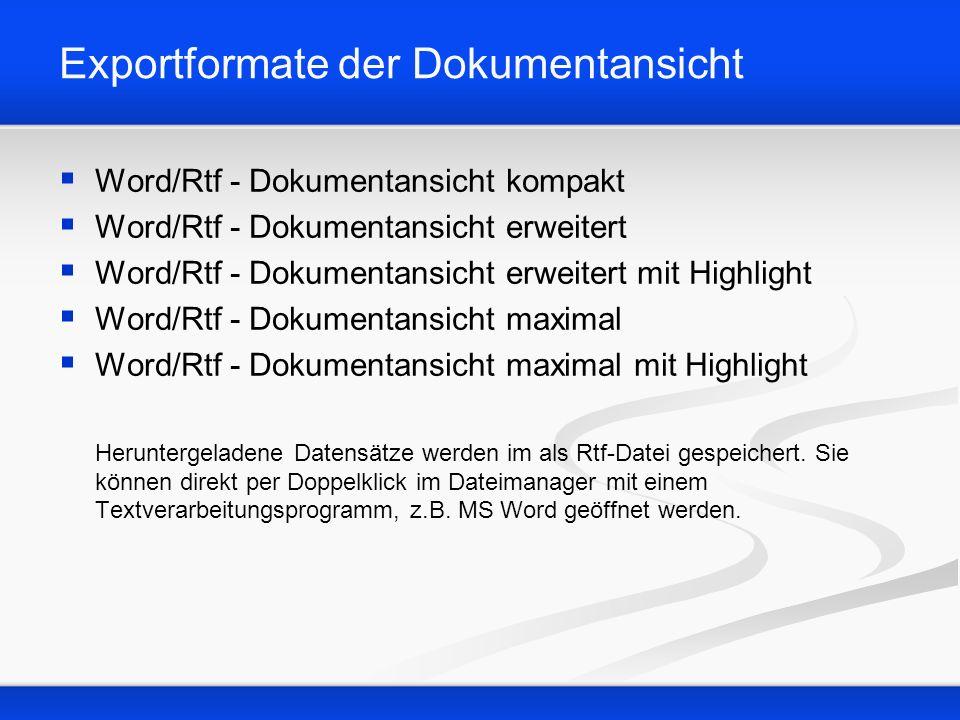 Beispiel: Word/Rtf - Dokumentansicht erweitert mit Highlight