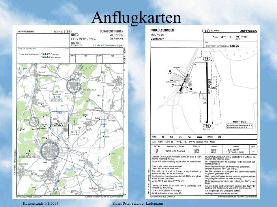 Kartenkunde 1/8/2014Frank-Peter Schmidt-Lademann Anflugkarten