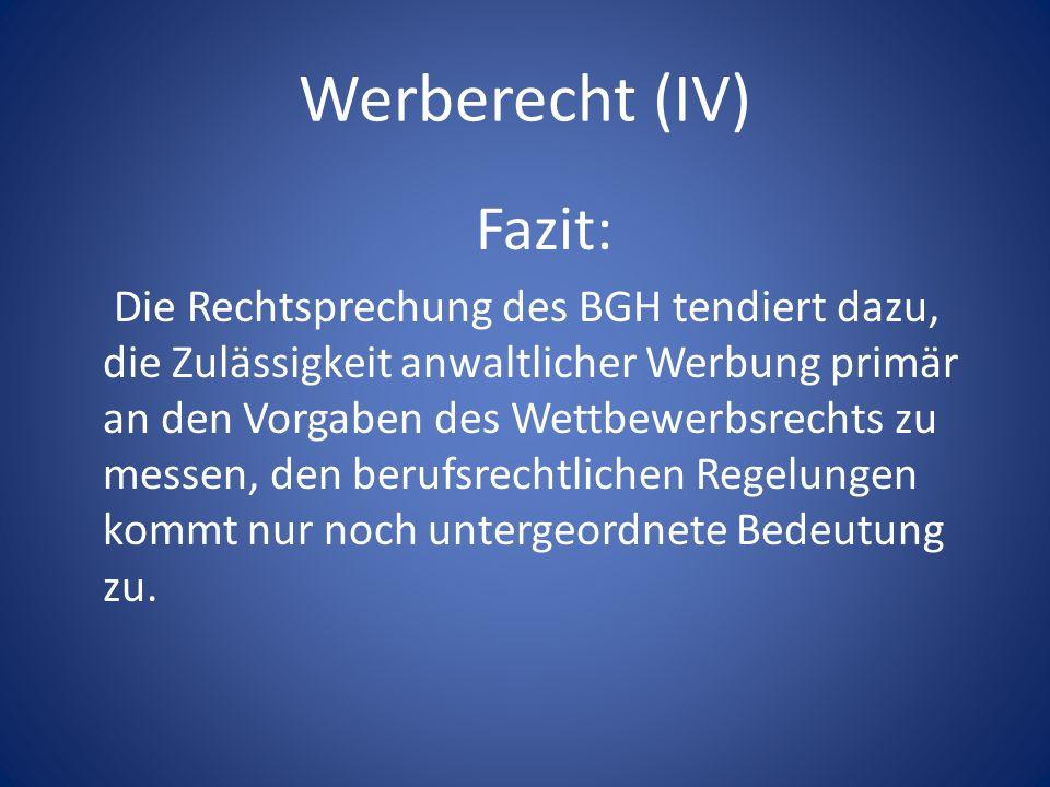 Generische Domainnamen Die Verwendung beschreibender Begriffe in Domainnamen stellt regelmäßig keine wettbewerbsrechtliche Irreführung dar (BGH: mitwohnzentrale.de).
