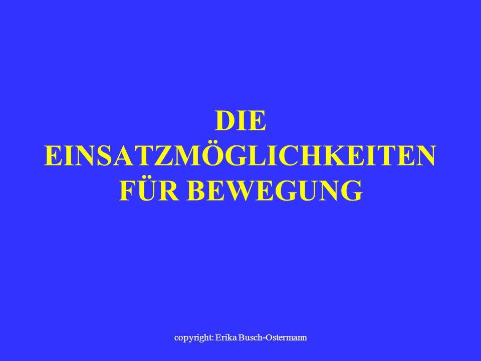 copyright: Erika Busch-Ostermann Die Konzentrationsfähigkeit sowie das soziale Lernen profitieren vom Prinzip der Bewegten Schule.