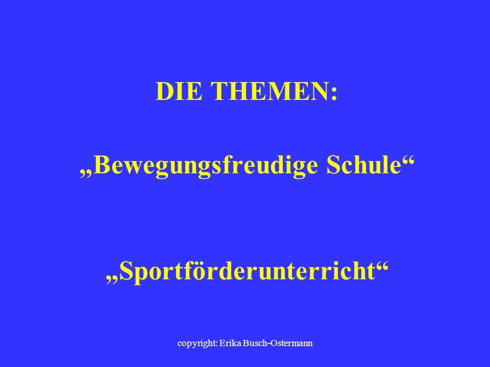 copyright: Erika Busch-Ostermann Eltern- und Lehrer- Sport- und Info-Abend am STÄDTISCHEN GYMNASIUM BERGKAMEN