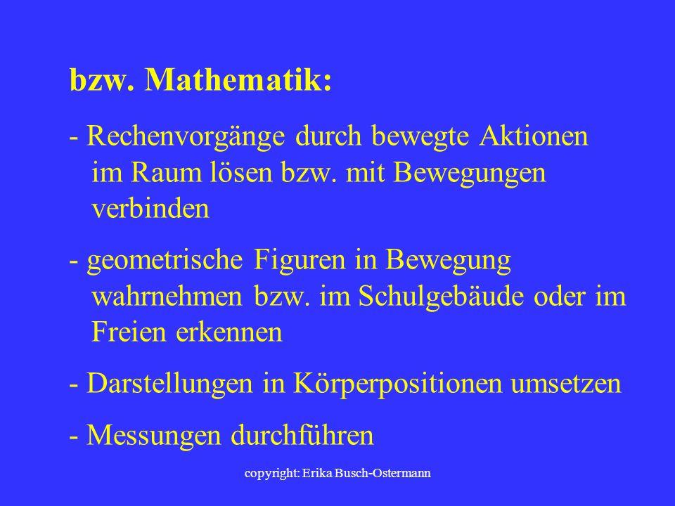 copyright: Erika Busch-Ostermann Am Beispiel des Faches Deutsch: - Gedichte, Prosa, Literatur inszenieren - Laufdiktate - Silben/Silbentrennung durch