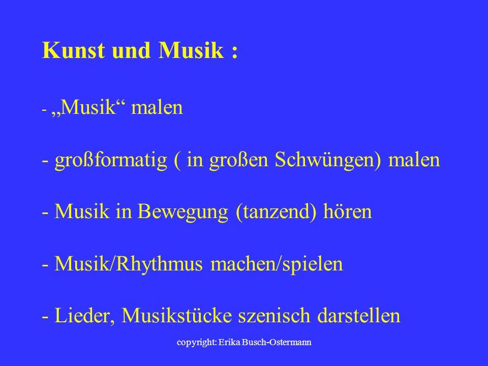 copyright: Erika Busch-Ostermann Naturwissenschaften: - Dynamische Vorgänge (Mitose, Gasgesetze, Osmose) als Rollenspiel inszenieren - Versuche, Messu