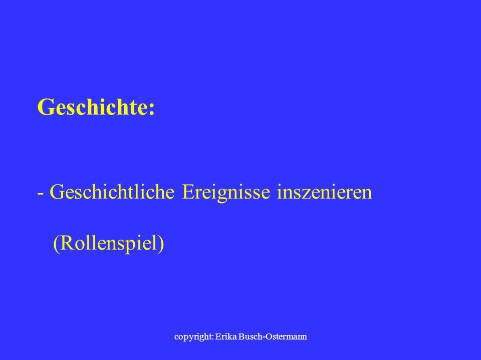 copyright: Erika Busch-Ostermann Kunst und Musik : - Musik malen - großformatig ( in großen Schwüngen) malen - Musik in Bewegung (tanzend) hören - Mus