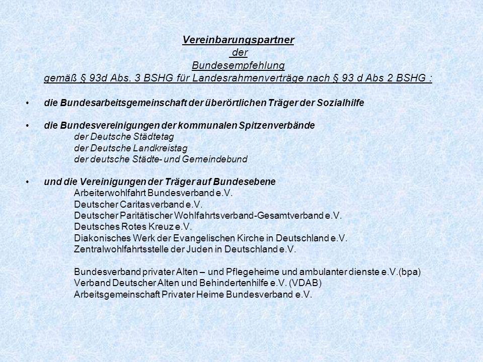 Rahmenvertrag nach § 79 Abs.