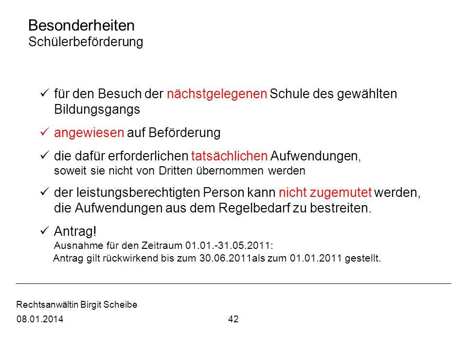 Rechtsanwältin Birgit Scheibe Besonderheiten Schülerbeförderung für den Besuch der nächstgelegenen Schule des gewählten Bildungsgangs angewiesen auf B