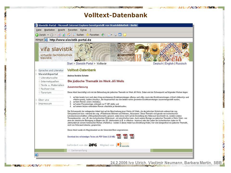 Volltext-Datenbank