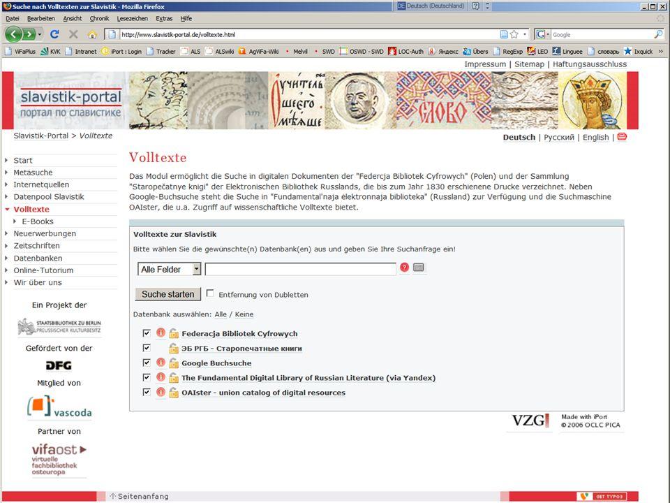 08.01.2014 |Slavistik-Portal | Osteuropa-AbteilungS. 14 Volltext-Modul zum Volltext-Modul