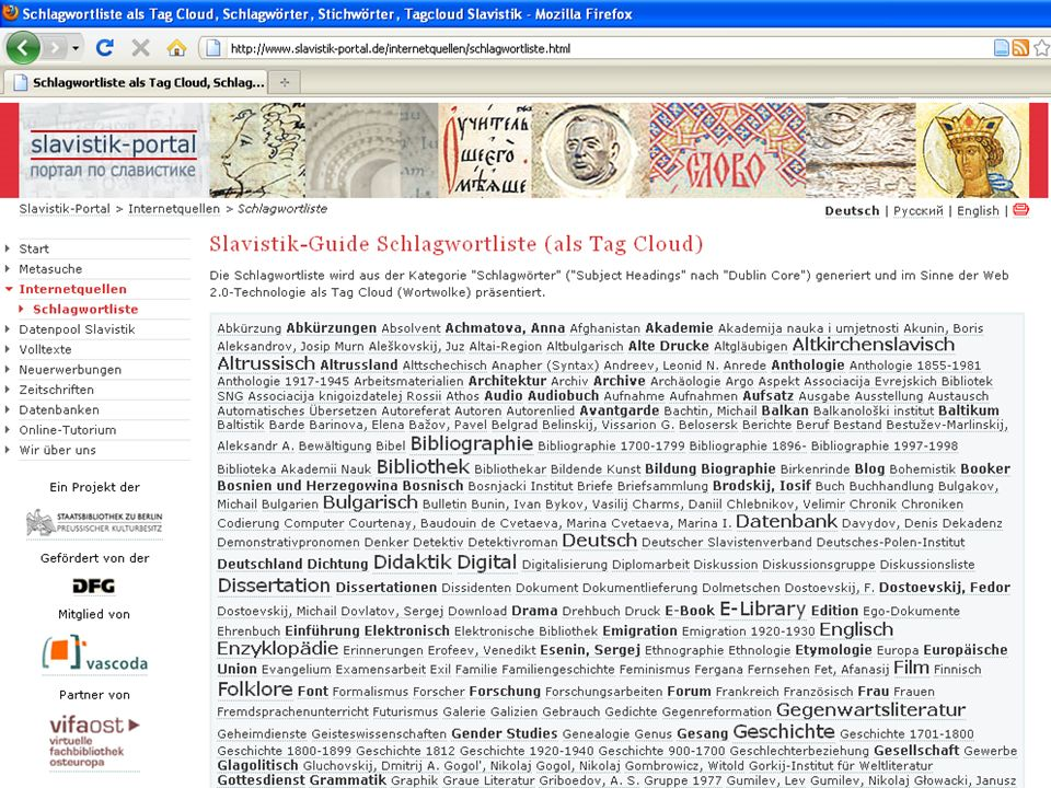 08.01.2014 |Slavistik-Portal | Osteuropa-AbteilungS. 20 Modul 4 - Volltext-Modul Beispiel