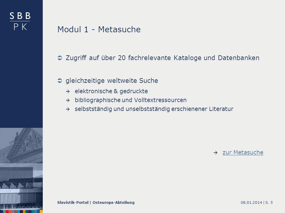 08.01.2014 |Slavistik-Portal | Osteuropa-AbteilungS. 16 Datenpool Slavistik zum Datenpool