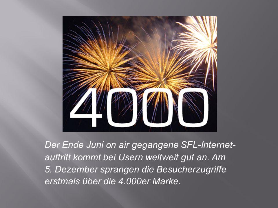Der Ende Juni on air gegangene SFL-Internet- auftritt kommt bei Usern weltweit gut an.