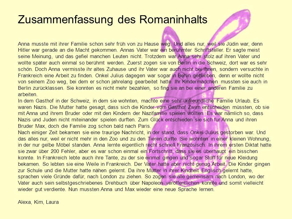 Zusammenfassung des Romaninhalts Anna musste mit ihrer Familie schon sehr früh von zu Hause weg.