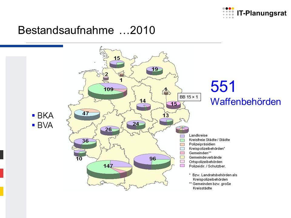 Bestandsaufnahme …2010 551 Waffenbehörden BKA BVA BB 15 > 1