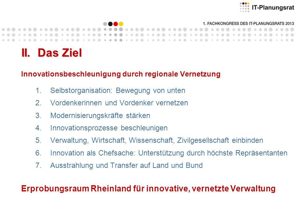 Offene Bildungs- infrastruktur Mobile Verwaltung Offene Verwaltungs- daten Politische Teilhabe Vernetzte Verwaltung III.