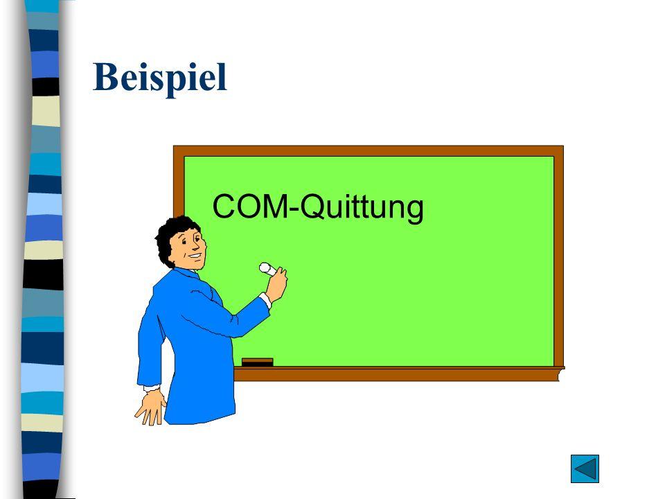 Beispiel COM-Quittung