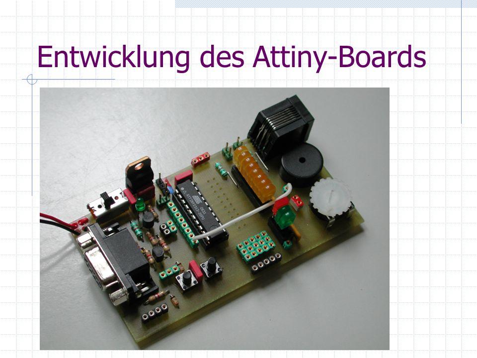 Entwicklung des Attiny-Boards