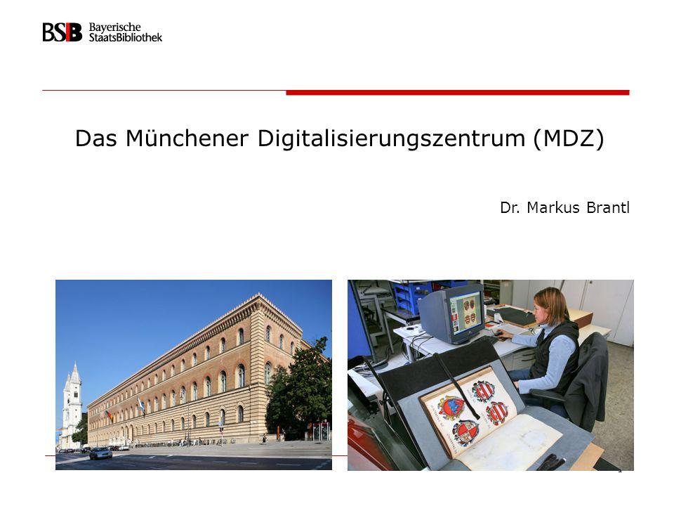 22 Agenda Bayerische Staatsbibliothek - einige Zahlen MDZ im Überblick Technik und Workflow Langzeitarchivierung Digitalisierungsstrategie/retrodigitaler Bestandsaufbau