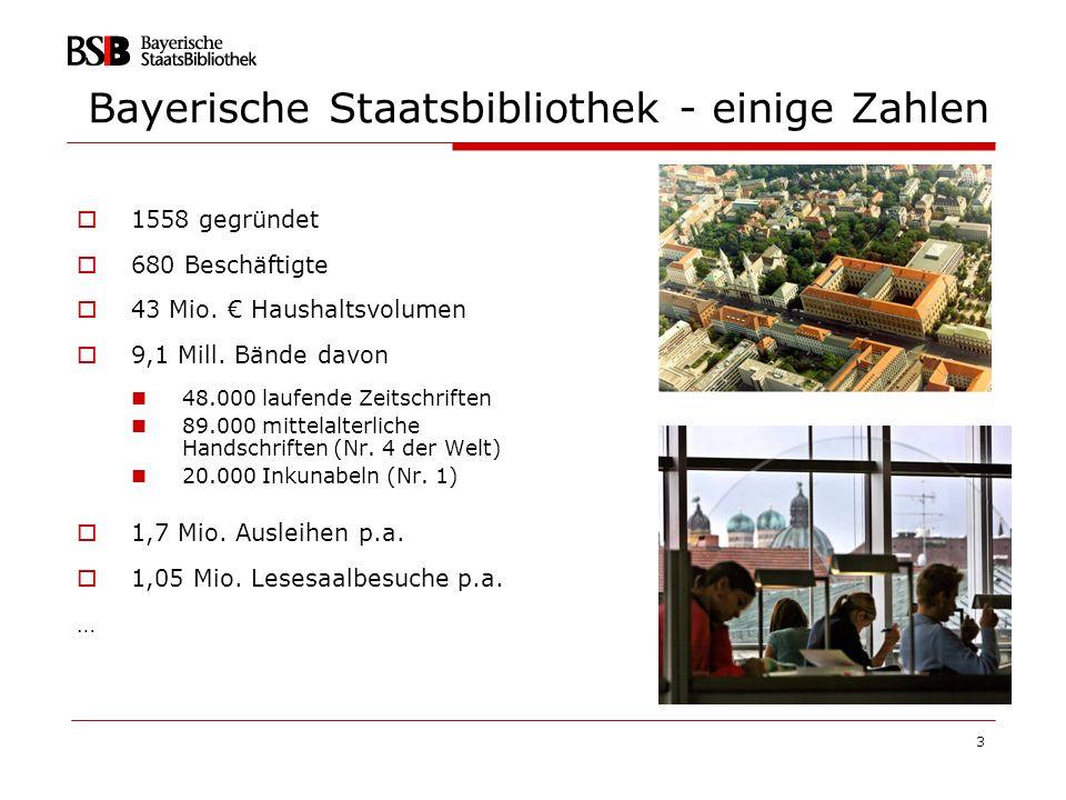 24 Public Private Partnership Digitalisierung des urheberrechtsfreien Gesamtbestandes der Bayerischen Staatsbibliothek, das sind deutlich mehr als 1.000.000 Titel!