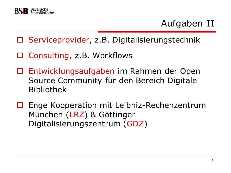 88 Status heute über 75 Projekte frei online verfügbar http://mdz.bib-bvb.de oder http://www.digital-collections.de ca.