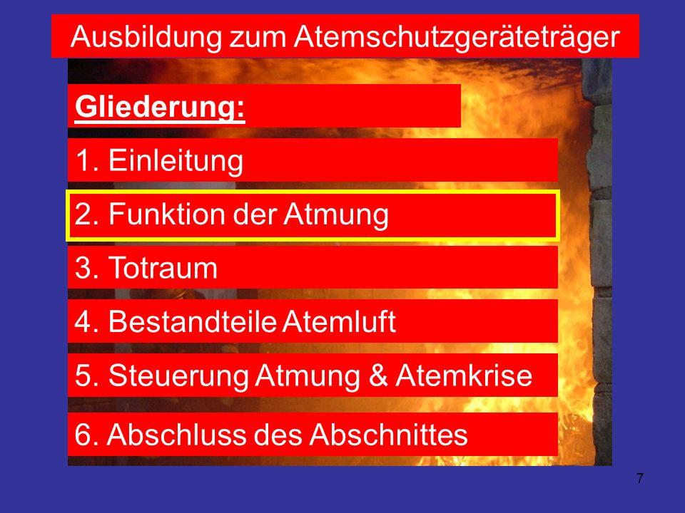 8 Ausbildung zum Atemschutzgeräteträger 2.