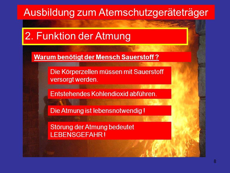 9 Ausbildung zum Atemschutzgeräteträger 2.
