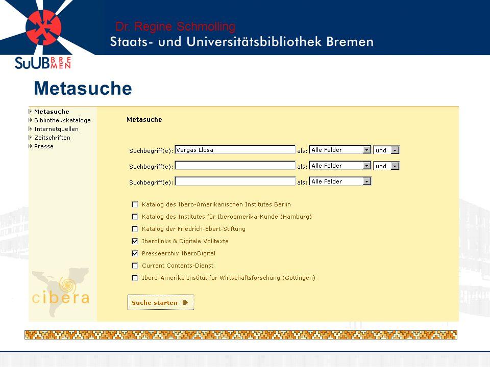 Metasuche Dr. Regine Schmolling