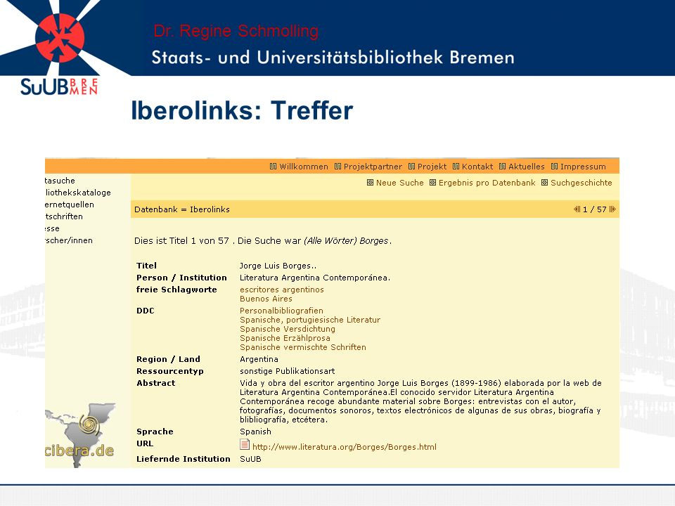 Workflow Dr. Regine Schmolling