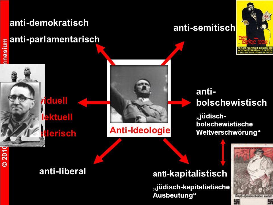 © 2010 Michael Seeger Faust-Gymnasium 7 Anti-Ideologie anti-demokratisch anti-parlamentarisch anti-liberal anti-individuell anti-intellektuell anti-künstlerisch anti-semitisch anti- bolschewistisch jüdisch- bolschewistische Weltverschwörung anti- kapitalistisch jüdisch-kapitalistische Ausbeutung