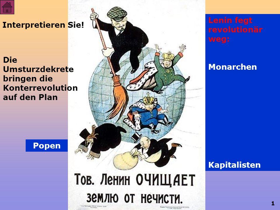 1 Russische Revolution Bürgerkrieg und Kriegskommunismus Interpretieren Sie.