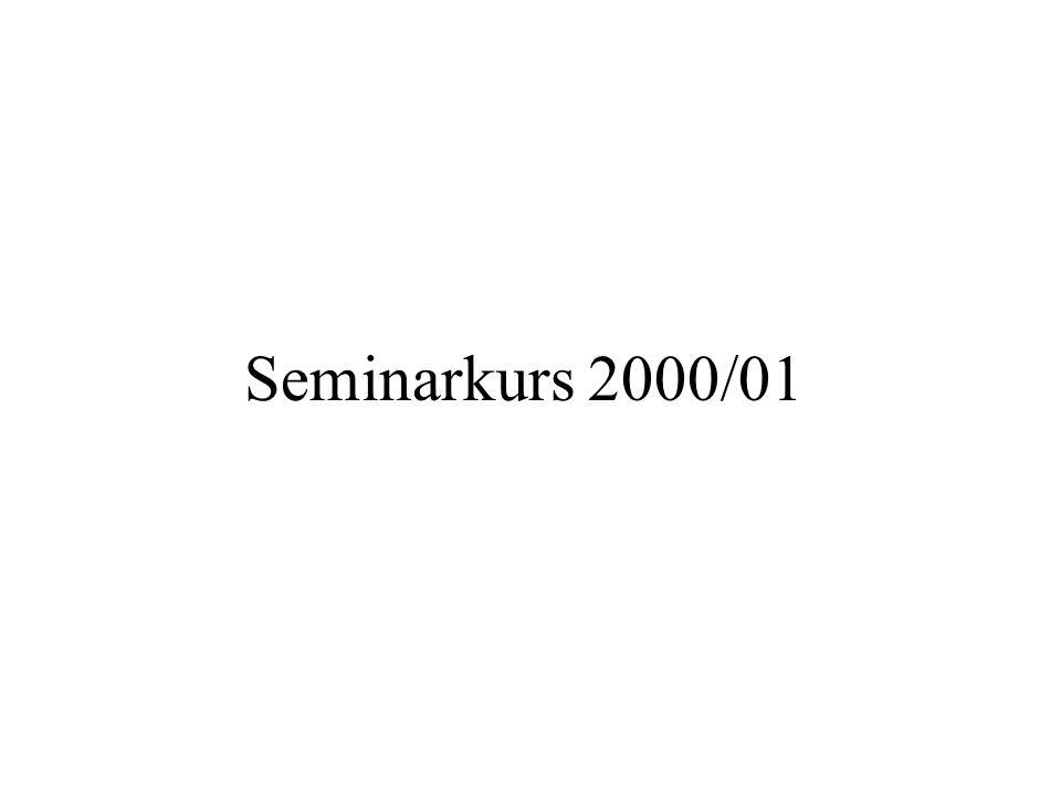 Seminarkurs 2000/01