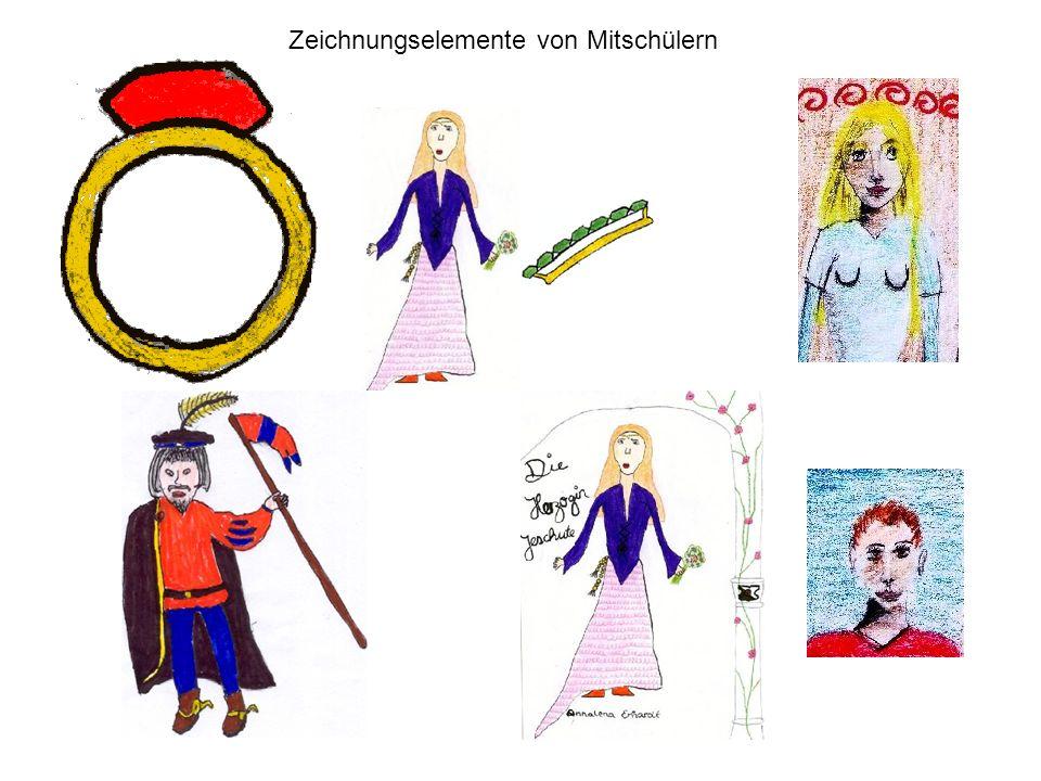 Zeichnungselemente von Mitschülern