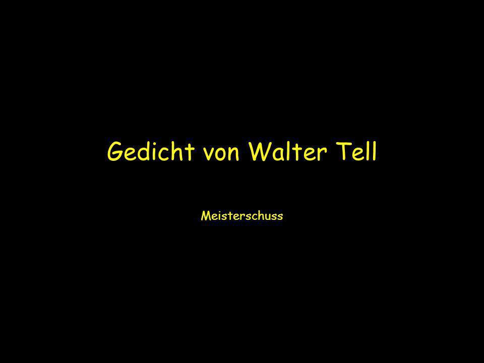 Gedicht von Walter Tell Meisterschuss