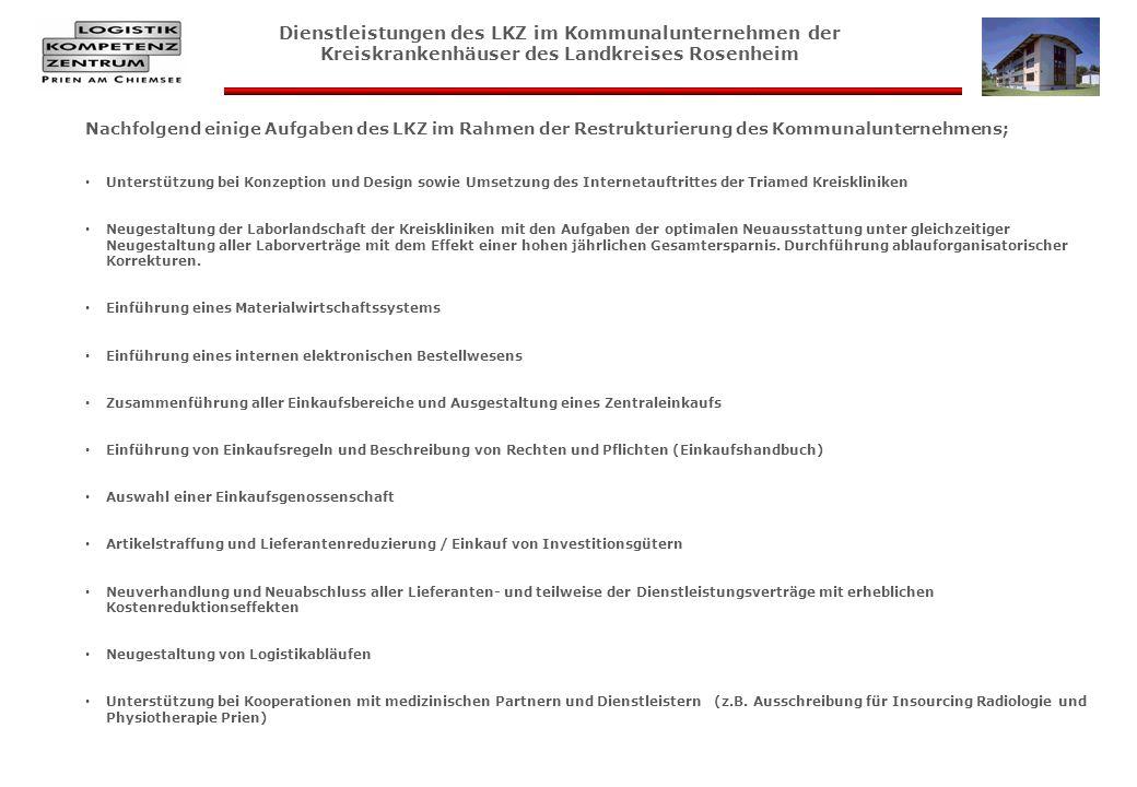 Nachfolgend einige Aufgaben des LKZ im Rahmen der Restrukturierung des Kommunalunternehmens; Unterstützung bei Konzeption und Design sowie Umsetzung d