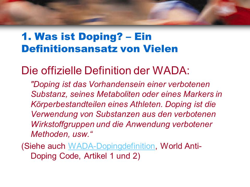 1.Was ist Doping.