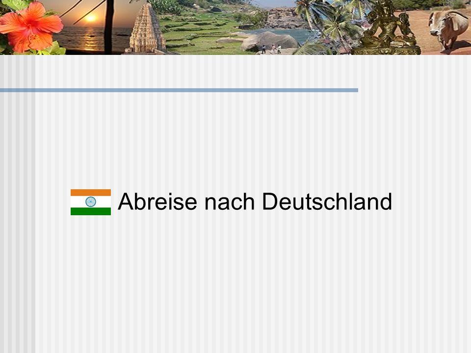 Abreise nach Deutschland