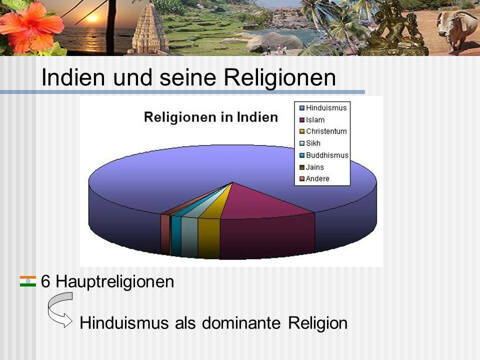 6 Hauptreligionen Hinduismus als dominante Religion Indien und seine Religionen