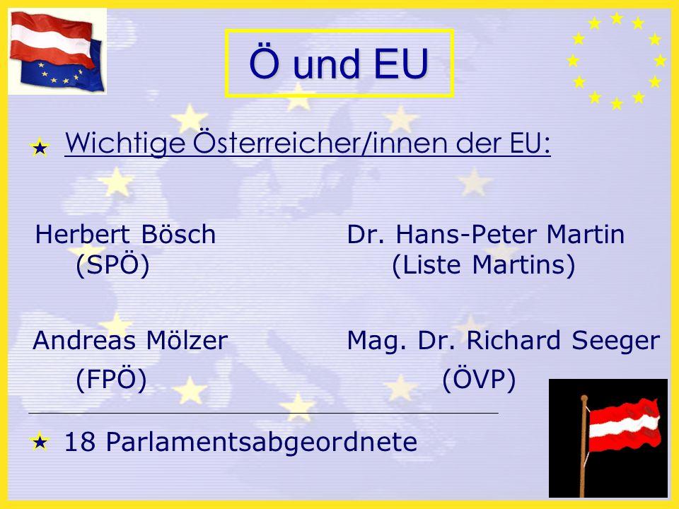 Ö und EU Wichtige Österreicher/innen der EU: Herbert Bösch Dr.