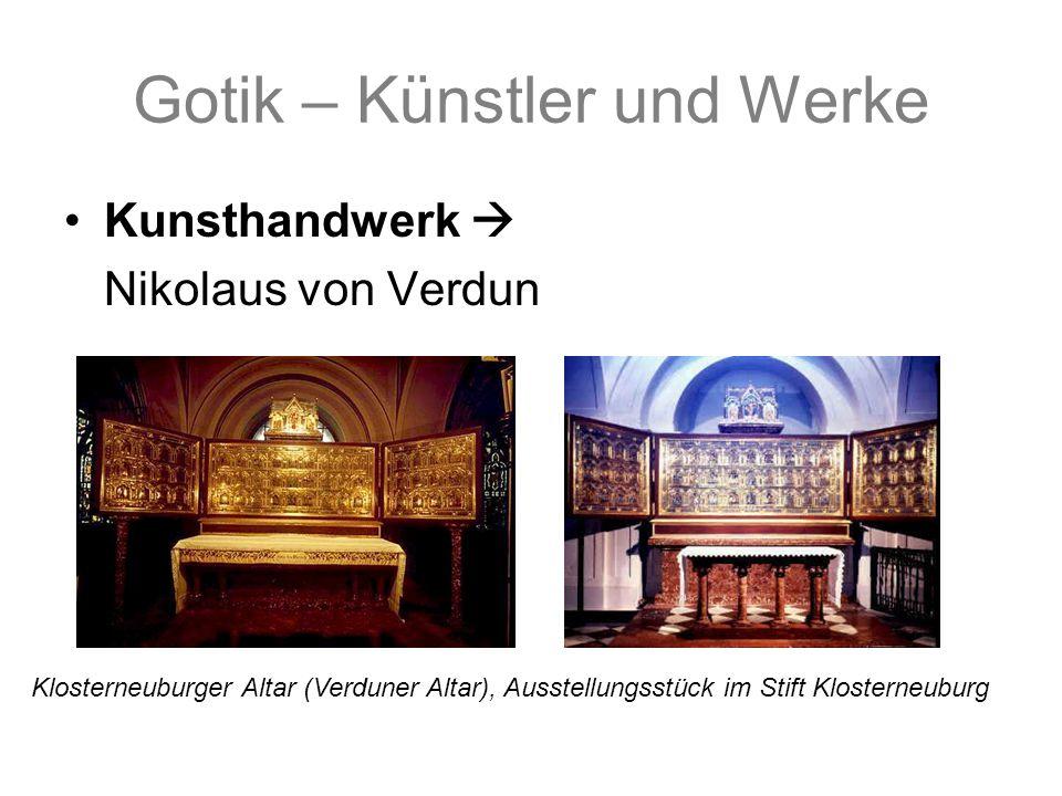 Gotik – Künstler und Werke Kunsthandwerk Nikolaus von Verdun Klosterneuburger Altar (Verduner Altar), Ausstellungsstück im Stift Klosterneuburg