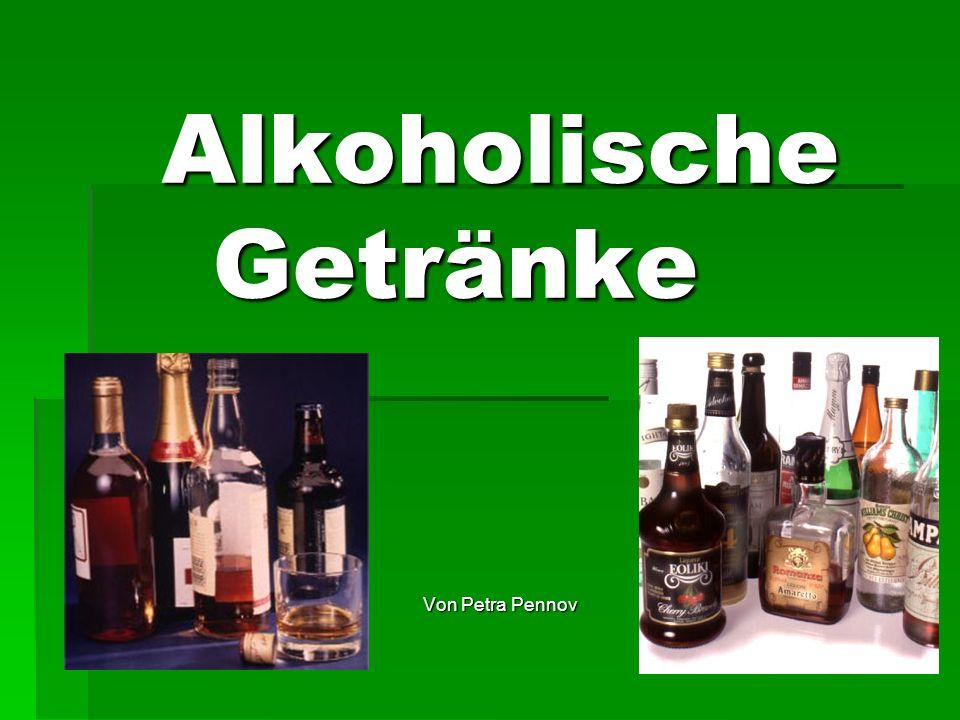 Alkoholische Getränke Von Petra Pennov
