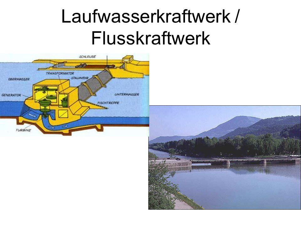 Laufwasserkraftwerk / Flusskraftwerk
