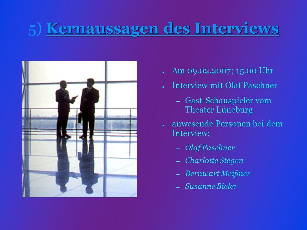 Olaf ist seit 23 Jahren Schauspieler 11 Jahre Gastschauspieler in Lüneburg 5-6 Woche Einübezeit für das Theaterstück Für Lavrenti gibt es nur eine Besetzung Lavrenti ist wie alle Personen wichtig im Buch/Theaterstück