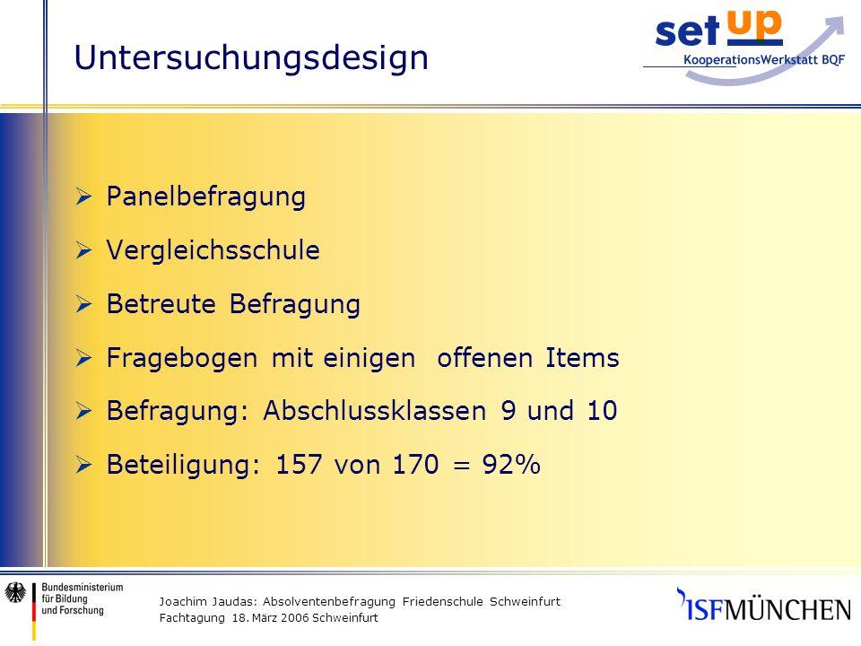 Joachim Jaudas: Absolventenbefragung Friedenschule Schweinfurt Fachtagung 18.