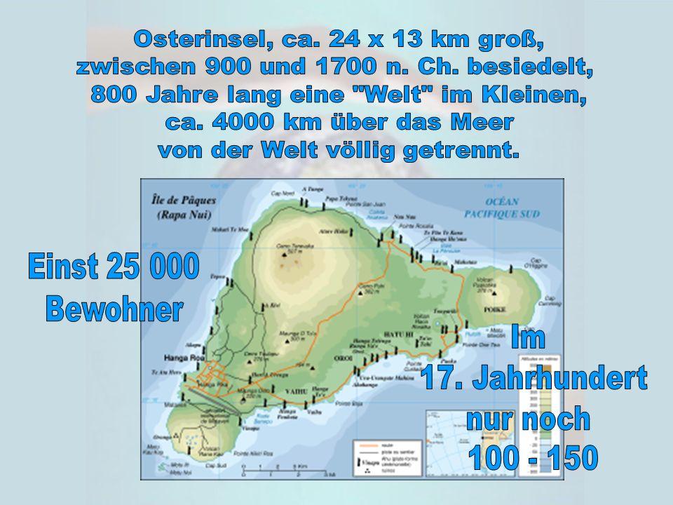 Was sagte der Bewohner der Osterinsel (unserer Erde) als er die letzte Palme fällte.